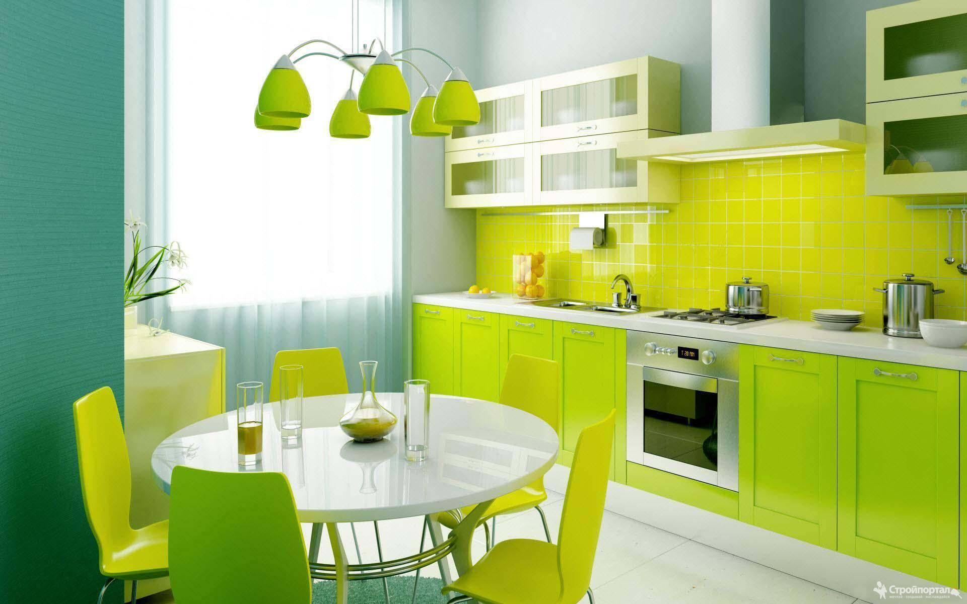 Кухня в зеленых тонах: дизайн интерьера и фото