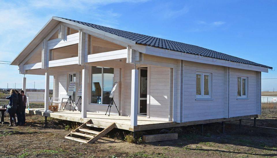 Строительство из двойного бруса по финской технологии теплый дом
