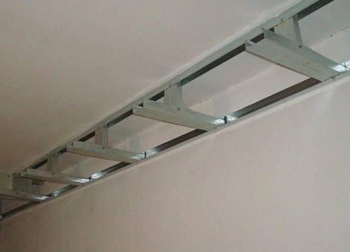 Потолок из гипсокартона на кухне: двухуровневый с подсветкой своими руками