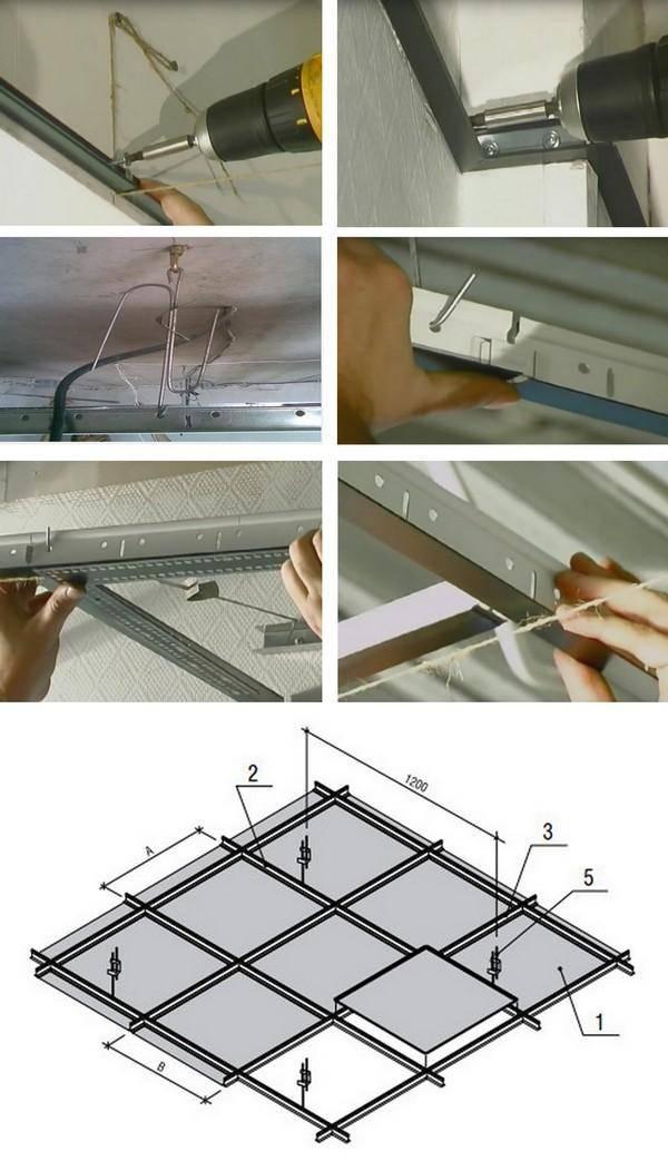 Потолок армстронг своими руками: чертеж, смета, конструкция, технология крепления, инструкция, фото и видео