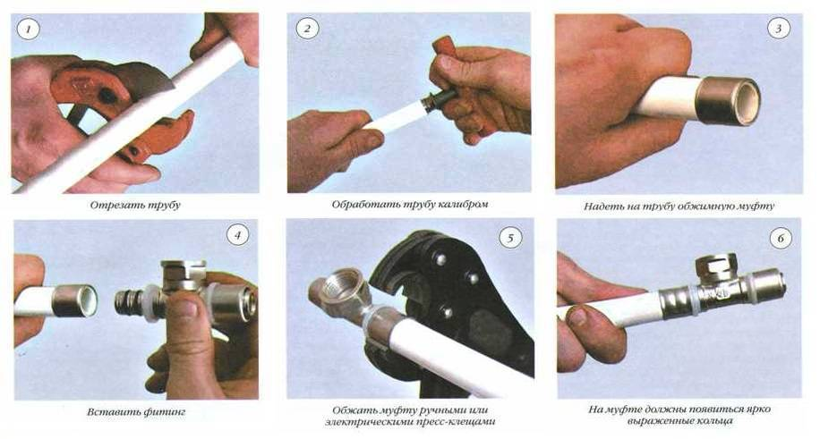 Как соединять и монтировать металлопластиковые трубы