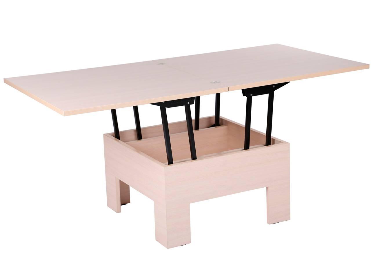 Столы-трансформеры для гостиной: фото обеденных раскладных столов