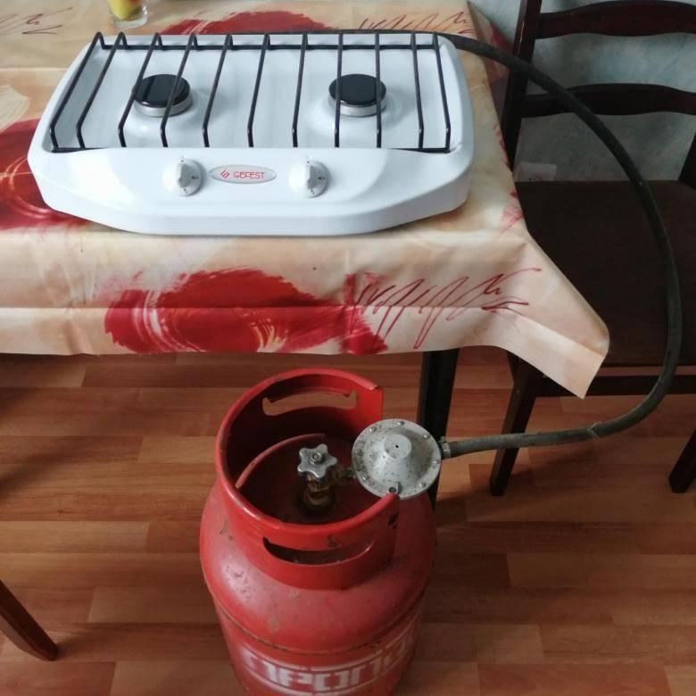 Газовый баллон на даче - для плиты, обогревателя и других нужд