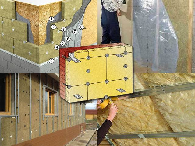 Особенности утепления стен снаружи минватой под штукатурку