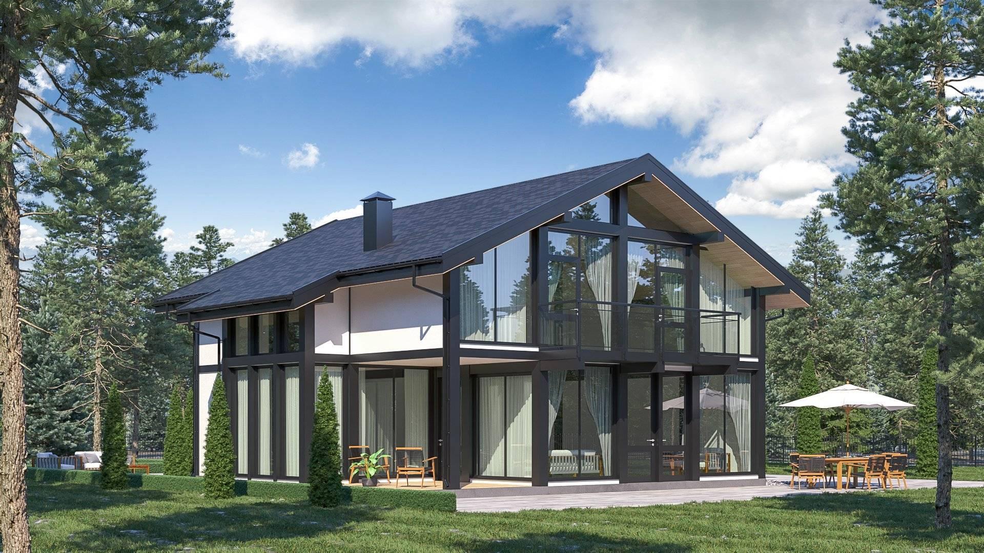Оригинальные проекты домов в стиле фахверк.