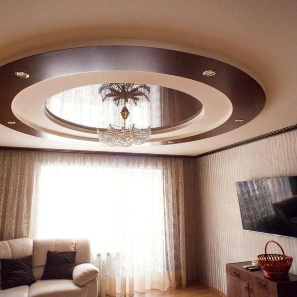 Все виды потолков из гипсокартона с фото примерами