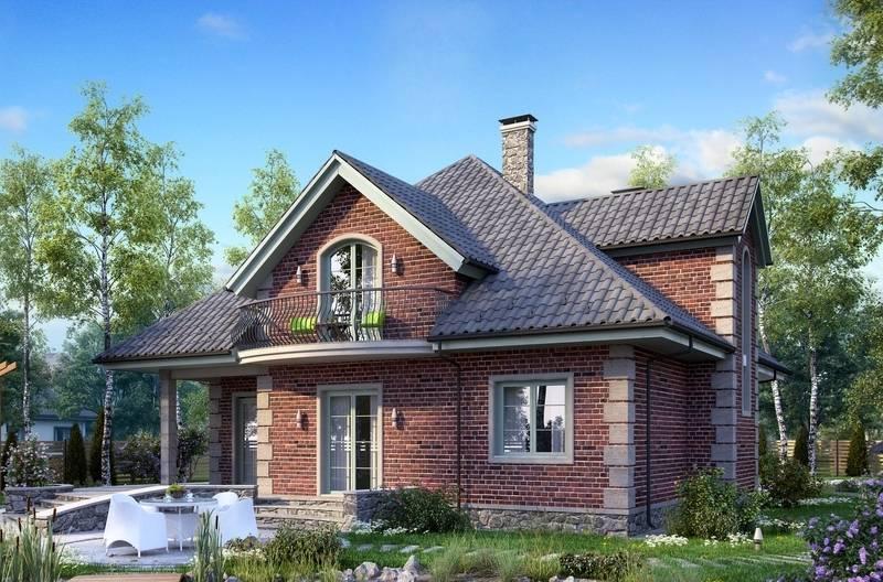 Одноэтажные кирпичные дома: красивые проекты