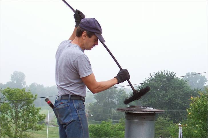 Чистка дымохода: способы, средства, народные методы