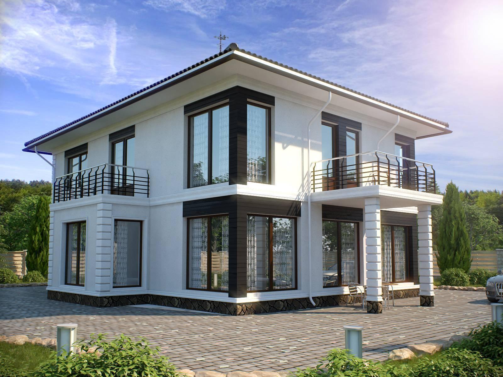 Проекты домов из газоблоков и монолитных коттеджей из газобетона