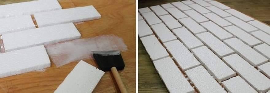 Как сделать кирпич из пенопласта своими руками?