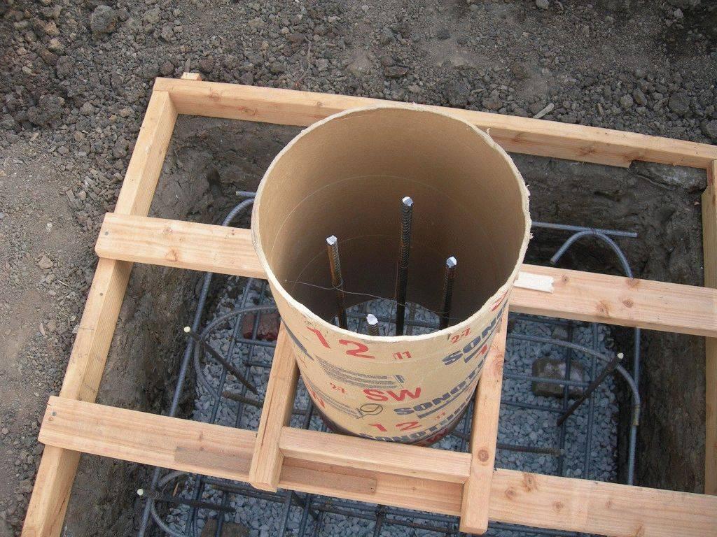 Опалубка для столбчатого фундамента - как сделать