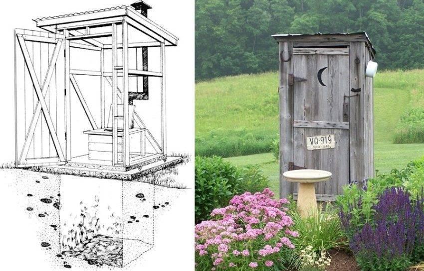 Как построить туалет на даче своими руками - размеры, чертежи, фото