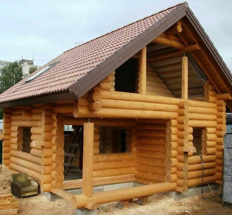 Строительство дома из оцилиндрованного бревна – сборка бревенчатого дома своими руками + фото-видео