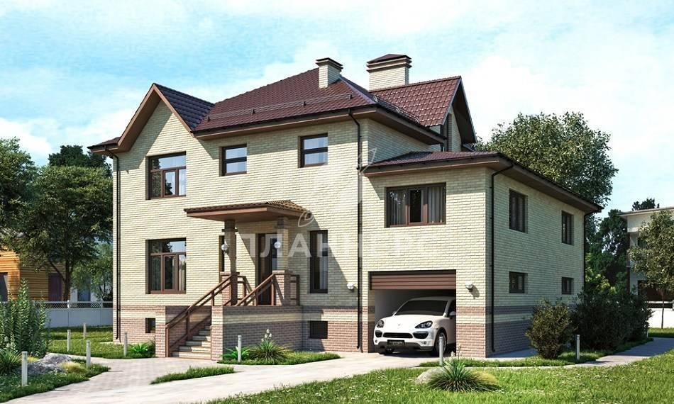 Проекты кирпичных коттеджей с цокольным этажом