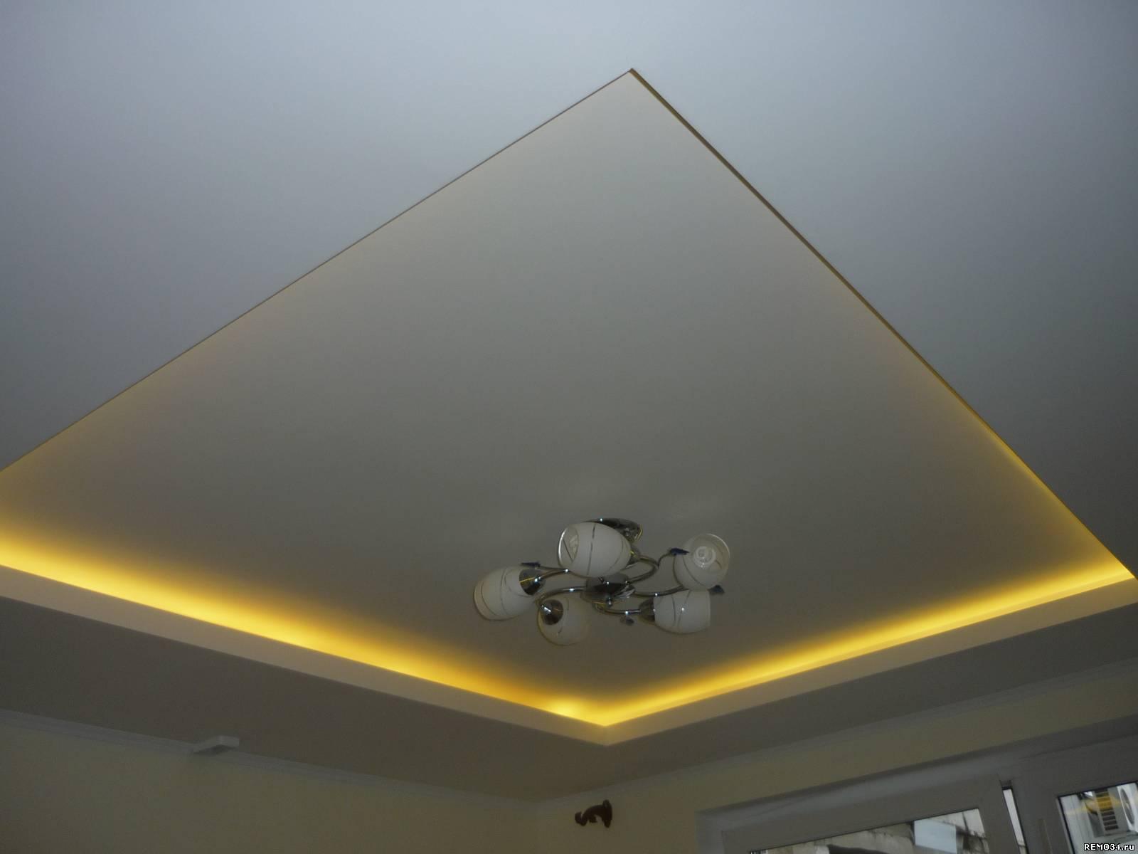 Как сделать двухуровневый потолок из гипсокартона: разметка, установка каркаса первого и второго уровня, монтаж листов