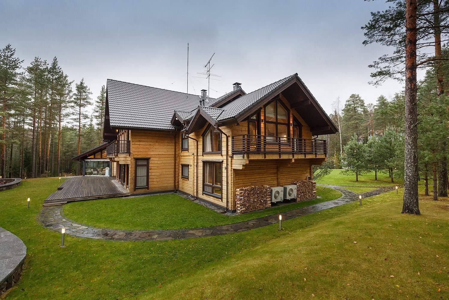 Дома из клееного бруса в москве под ключ: цена строительства проекта