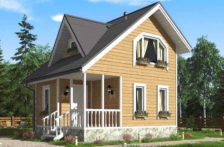Проекты дачных домиков для 6 соток: фото, особенности вариантов и монтажных работ
