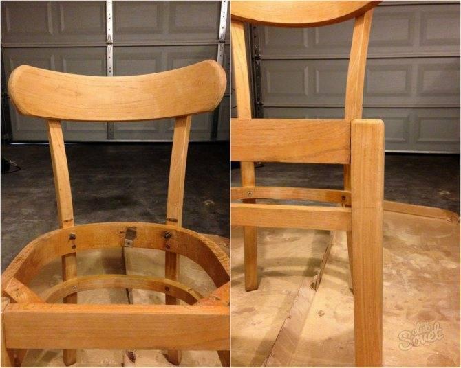 Как правильно перетянуть мягкий стул своими руками