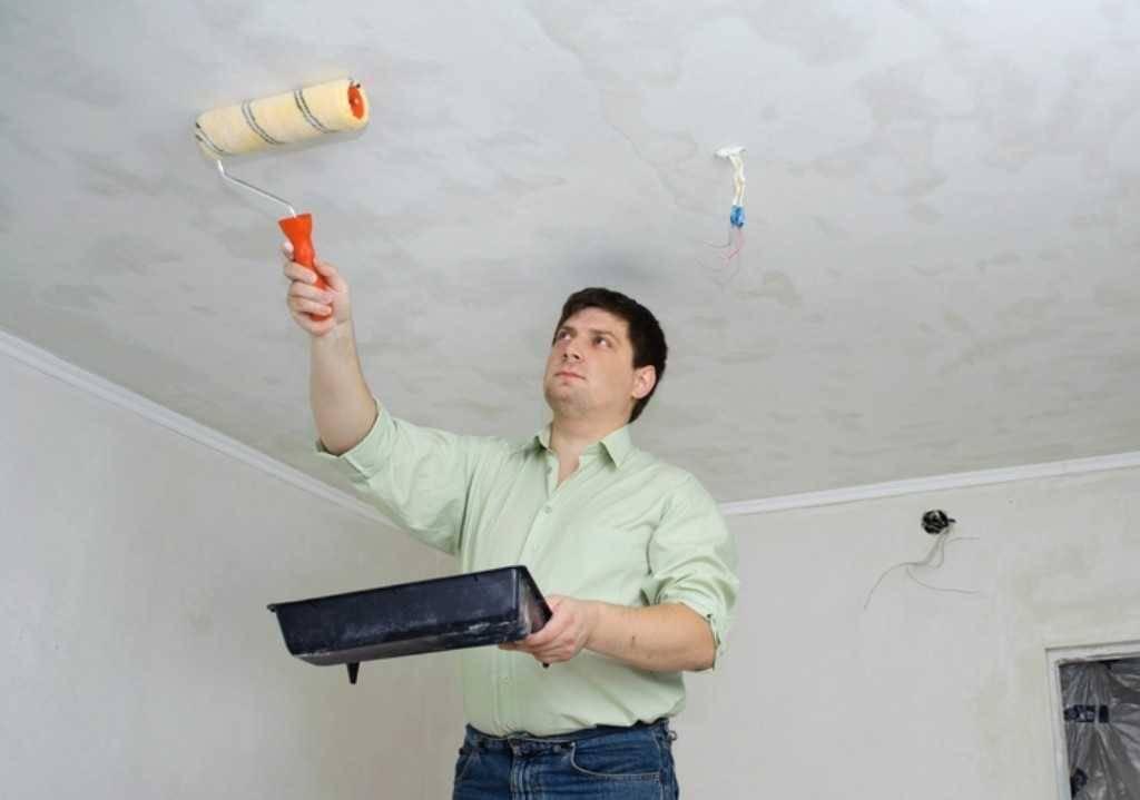Как исправить потолок после покраски — полезные советы