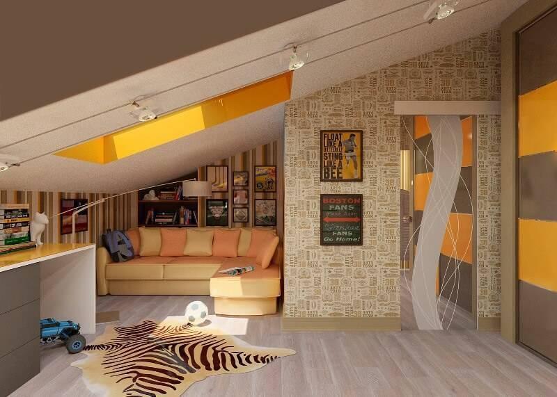 Мансарда: дизайн интерьера, варианты с фото