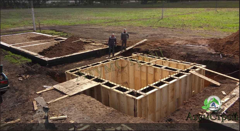 Особенности монтажа фундамента с погребом
