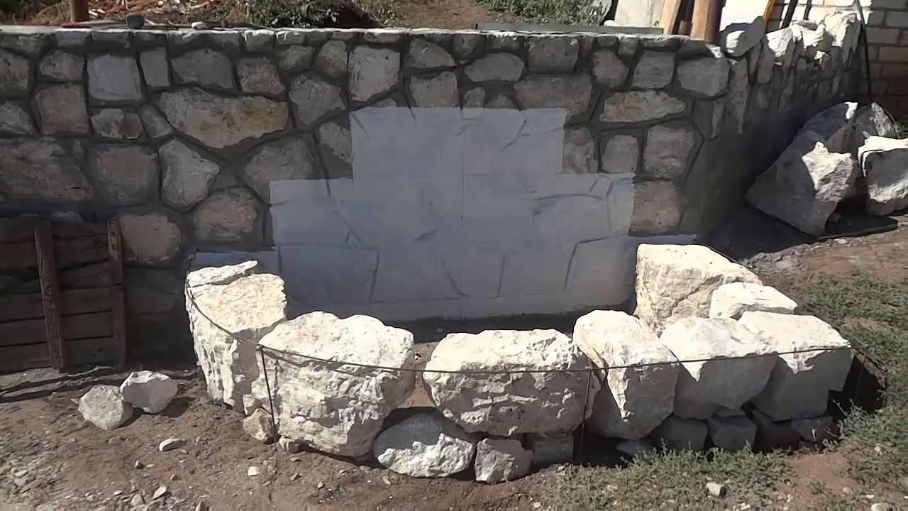 Строим кирпичную беседку, из бута или строительных блоков