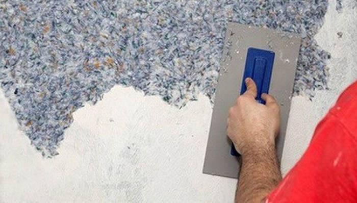 Как наносить жидкие обои на стену: технология, видео-инструкция
