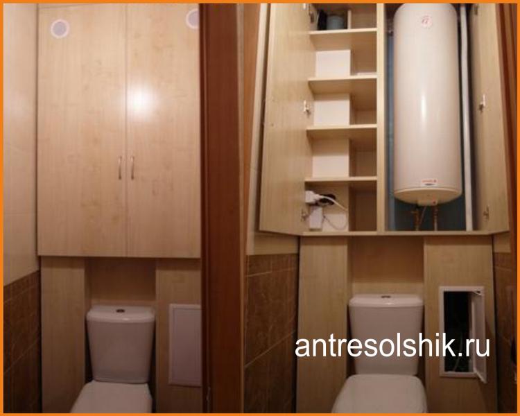 Простая и понятная инструкция, которая позволяет сделать шкаф в туалете за унитазом своими руками с минимумом сил