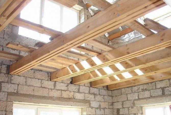 Деревянное межэтажное перекрытие, межэтажное перекрытие по деревянным балкам