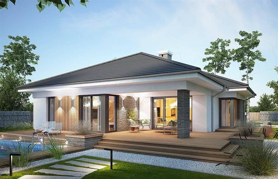 Создание проектов одноэтажных домов в стиле хай тек (58 креативных фото)