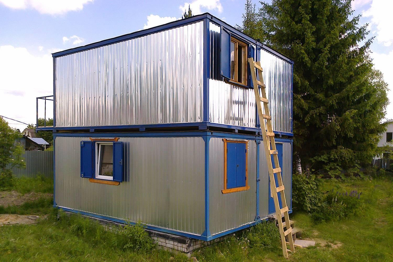 Модульные дома из блок контейнеров: варианты строительства, планировка, фото