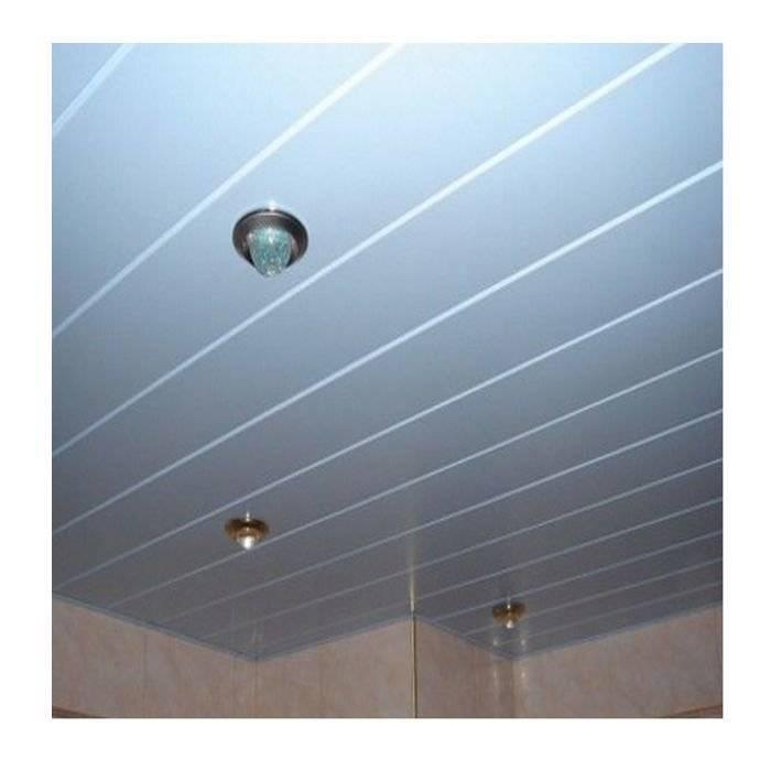Реечный потолок в ванной комнате: цена алюминиевого и монтаж панелей оцинкованных
