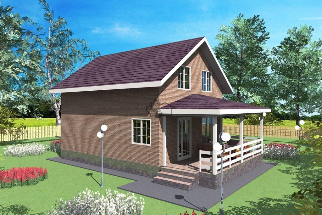 Дом 6 на 10: планировка одноэтажного, двухэтажного и строения с мансардой, проекты узких зданий из дерева (бруса), пеноблока и кирпича