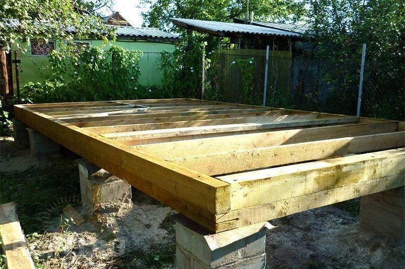 Простое и эффективное решение — столбчатый фундамент для бани