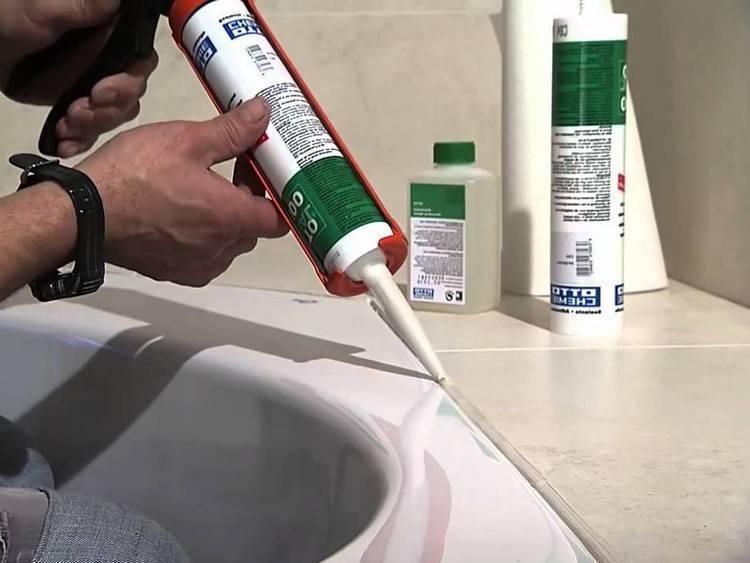 Герметизация ванны со стеной: пошаговая инструкция