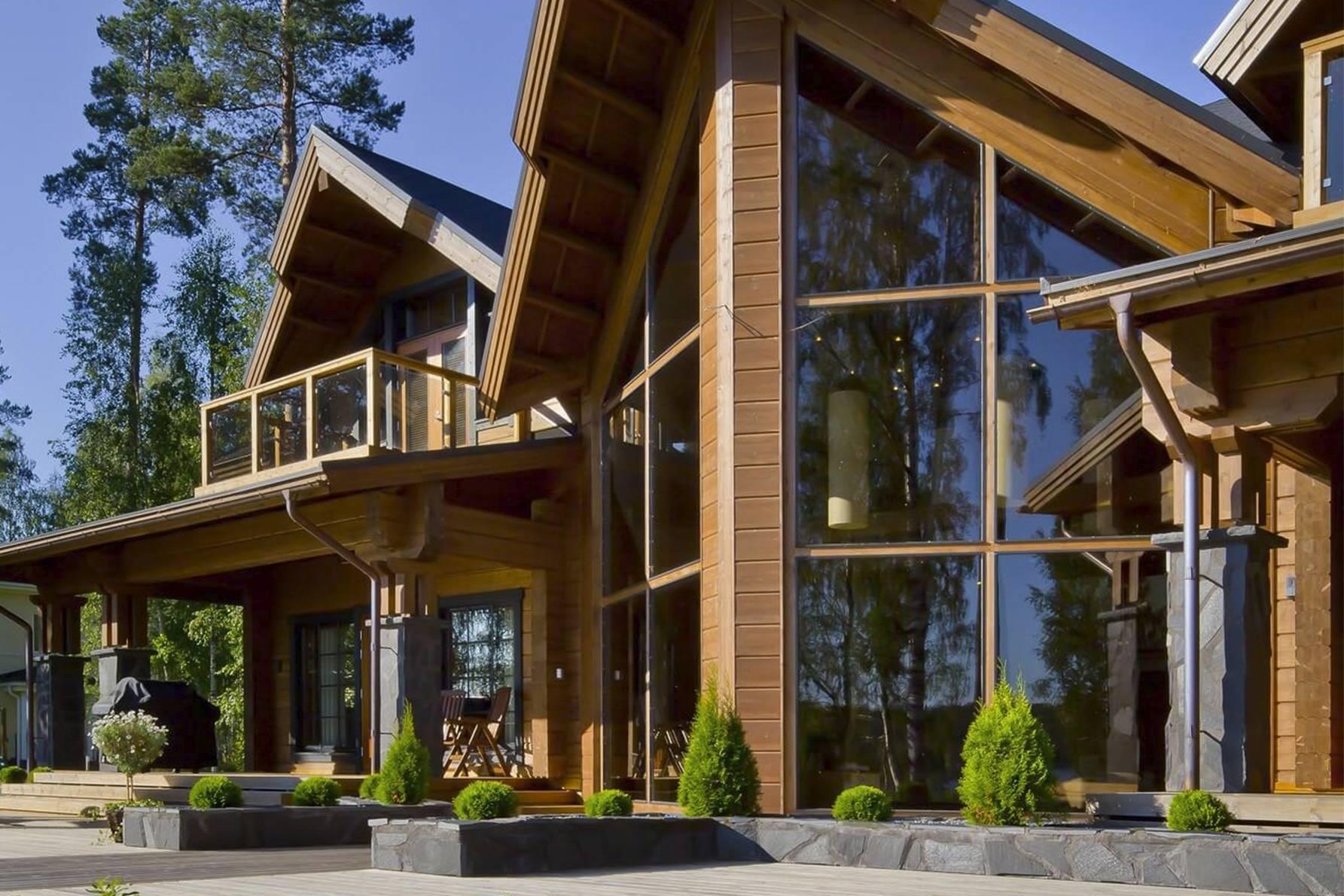 Дом из клееного бруса: строительство деревянного одноэтажного, двухэтажного сруба из профилированного брусового материала, какой он бывает, что лучше применить?