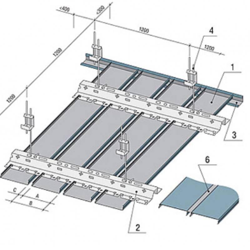 Монтаж реечного потолка своими руками - инструкция!