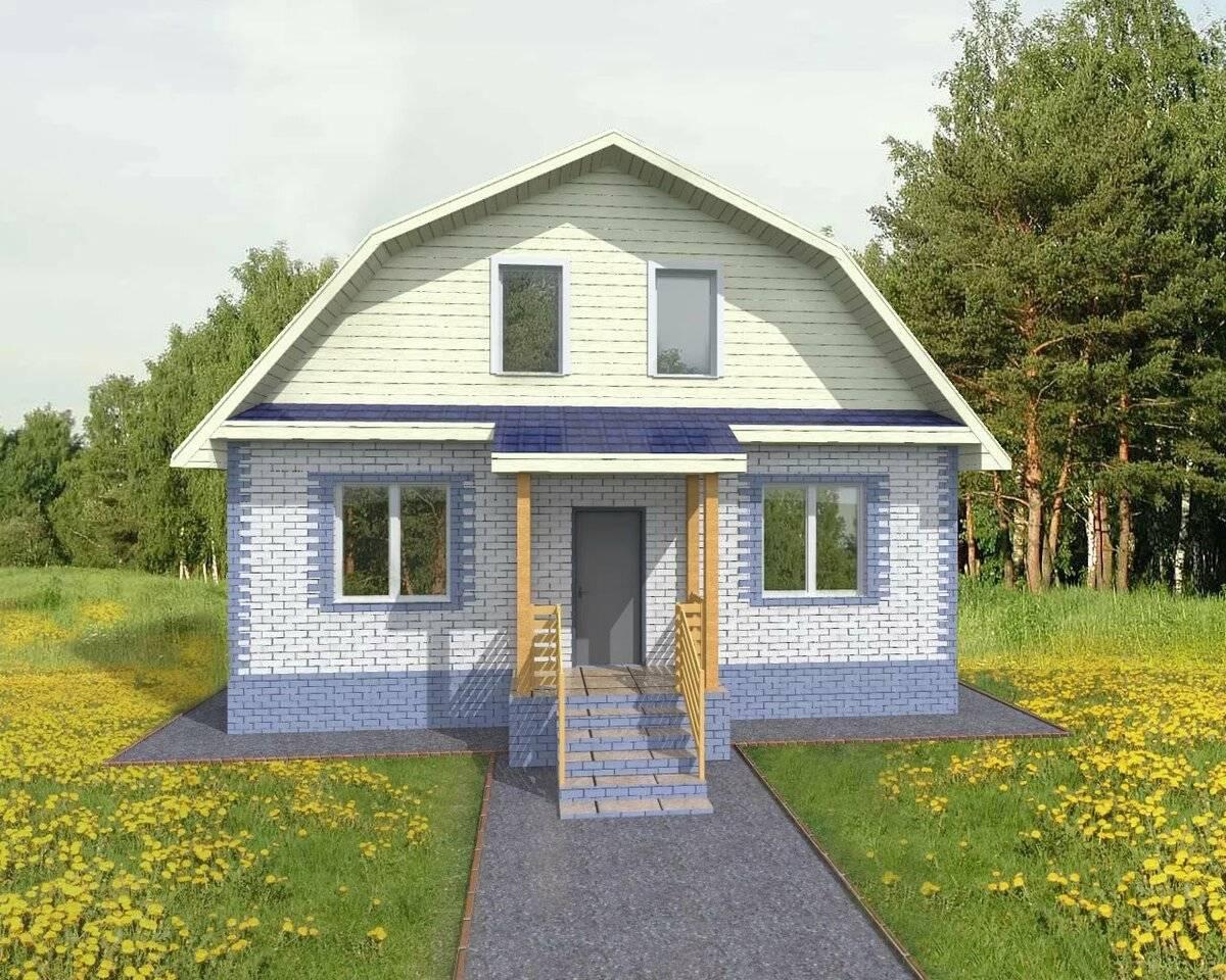 Дешевые проекты домов из пеноблоков: видео-инструкция по монтажу своими руками, фото