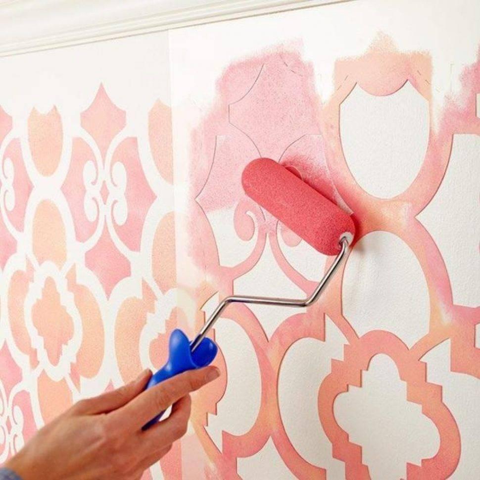 Трафареты для стен: лучшие идеи