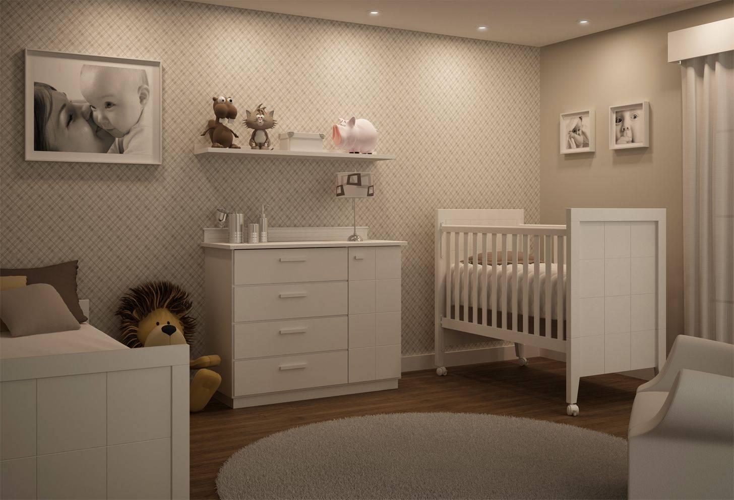 Интерьер детской комнаты для новорожденного + 100 фото
