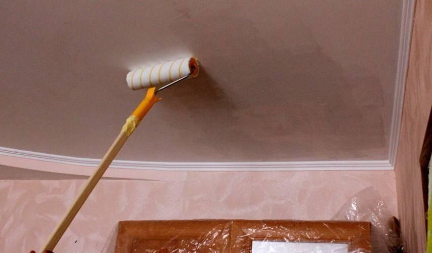 ????подготовка потолка и стоимость покраски водоэмульсионной краской - блог о строительстве