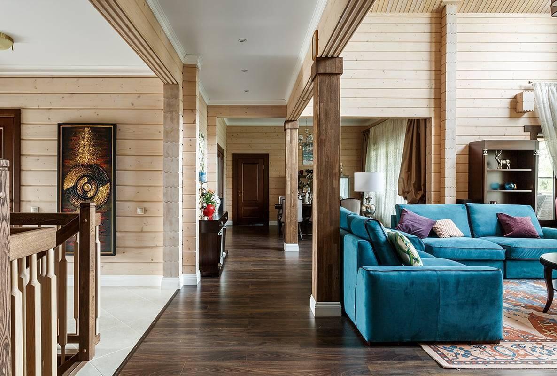 Интерьер дома из клееного бруса. дизайн брусовых домов с фотографиями