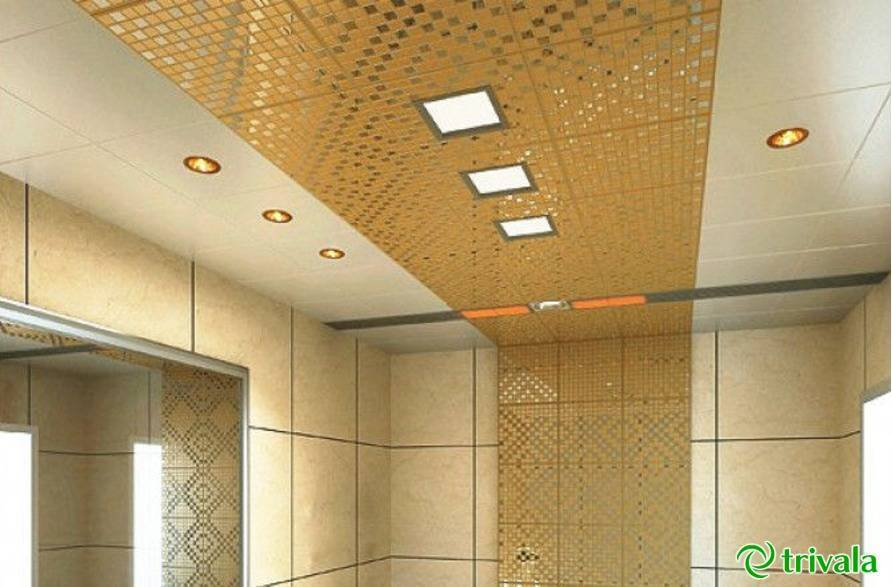 Кассетный потолок подвесной: цена для ванной, монтаж алюминиевого и caveen 30х30