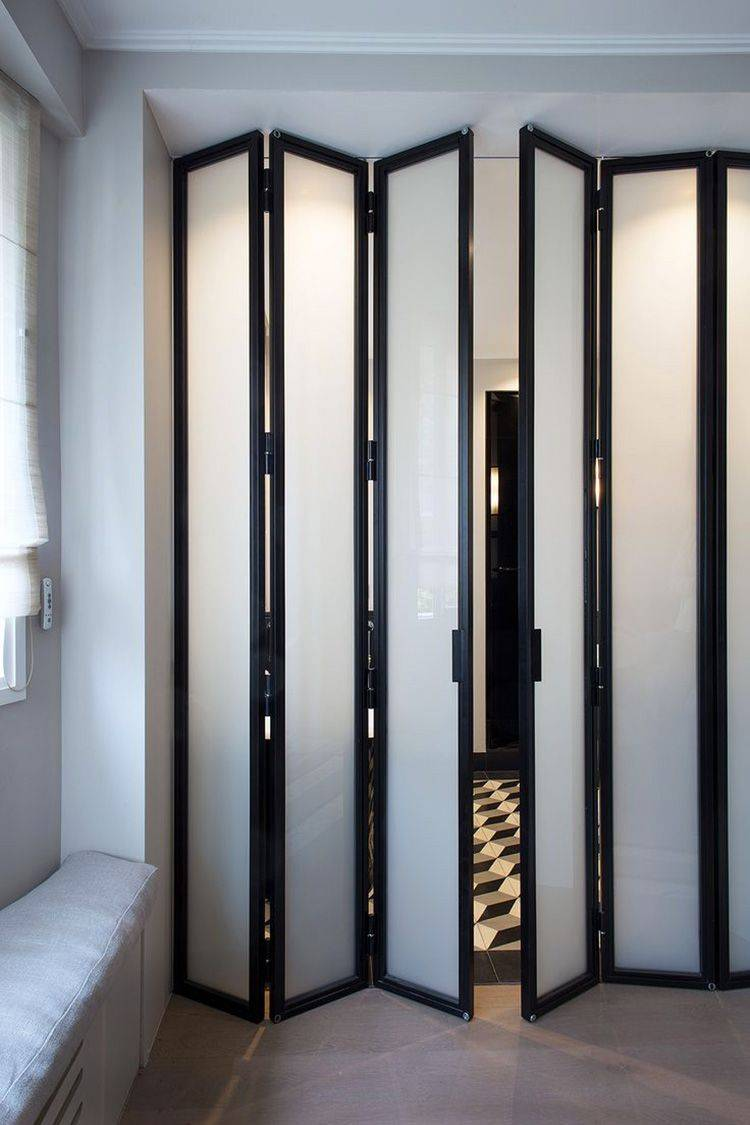 Межкомнатные двери гармошка. описание, виды и установка дверей гармошка