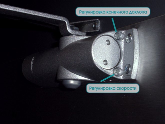 Регулировка доводчика двери по силе закрывания: инструкция
