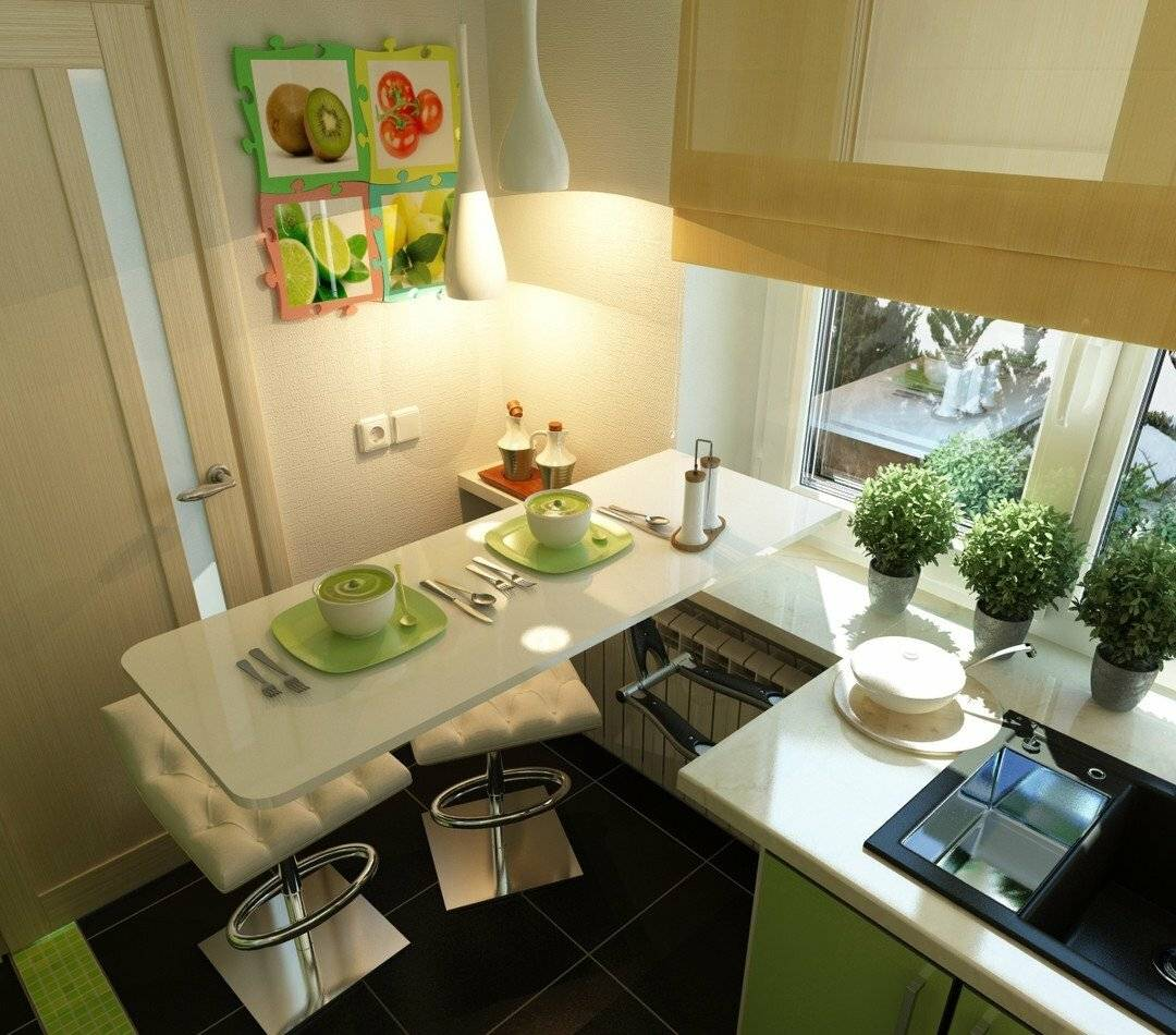 Дизайнерские секреты по увеличению пространства совсем маленькой кухни. никакого волшебства. всё просто.