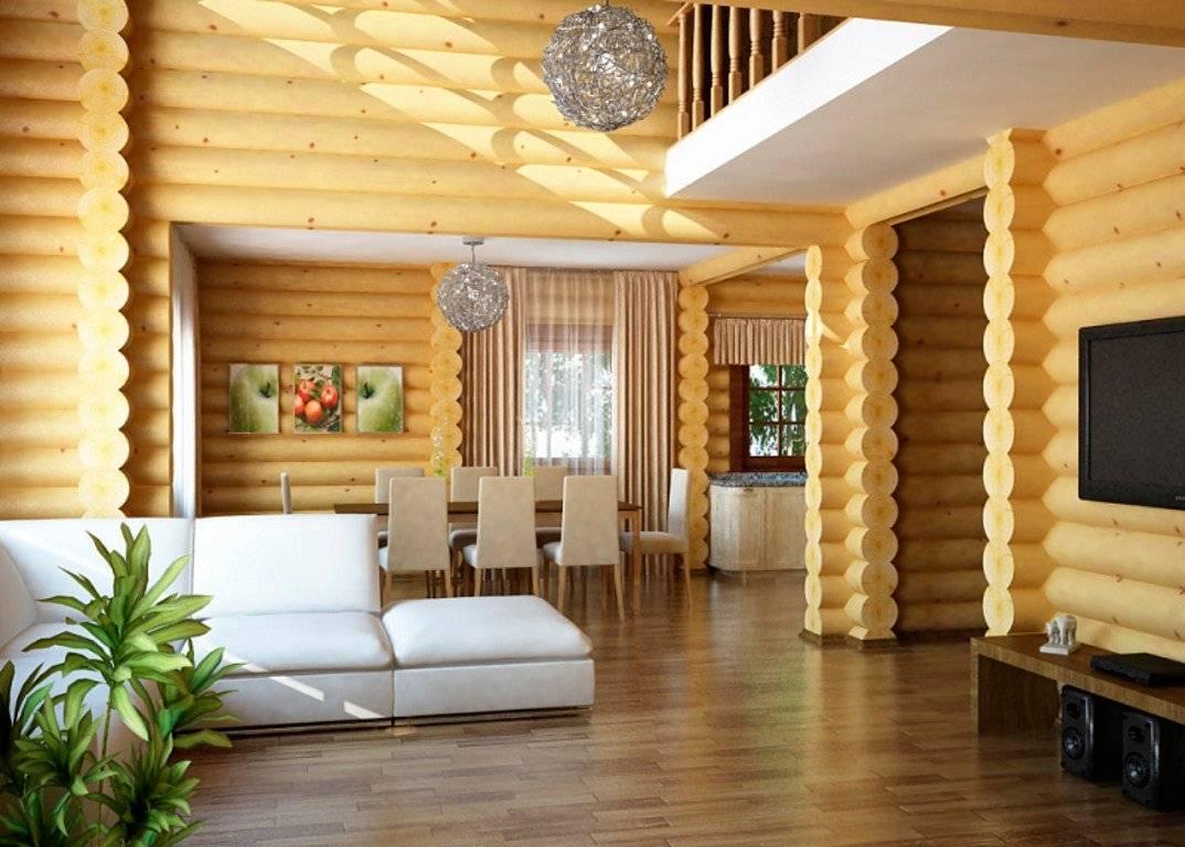 Внутренний дизайн деревянного дома: 50 фото + 3 видео