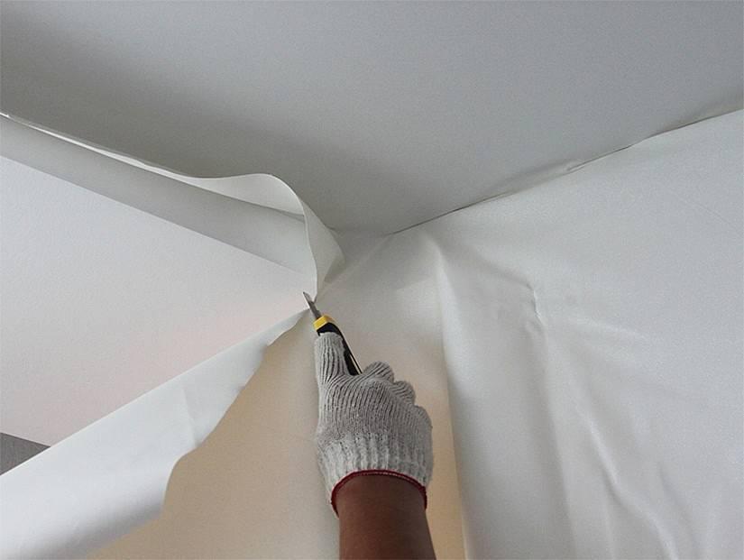 Натяжной потолок пвх, технология монтажа