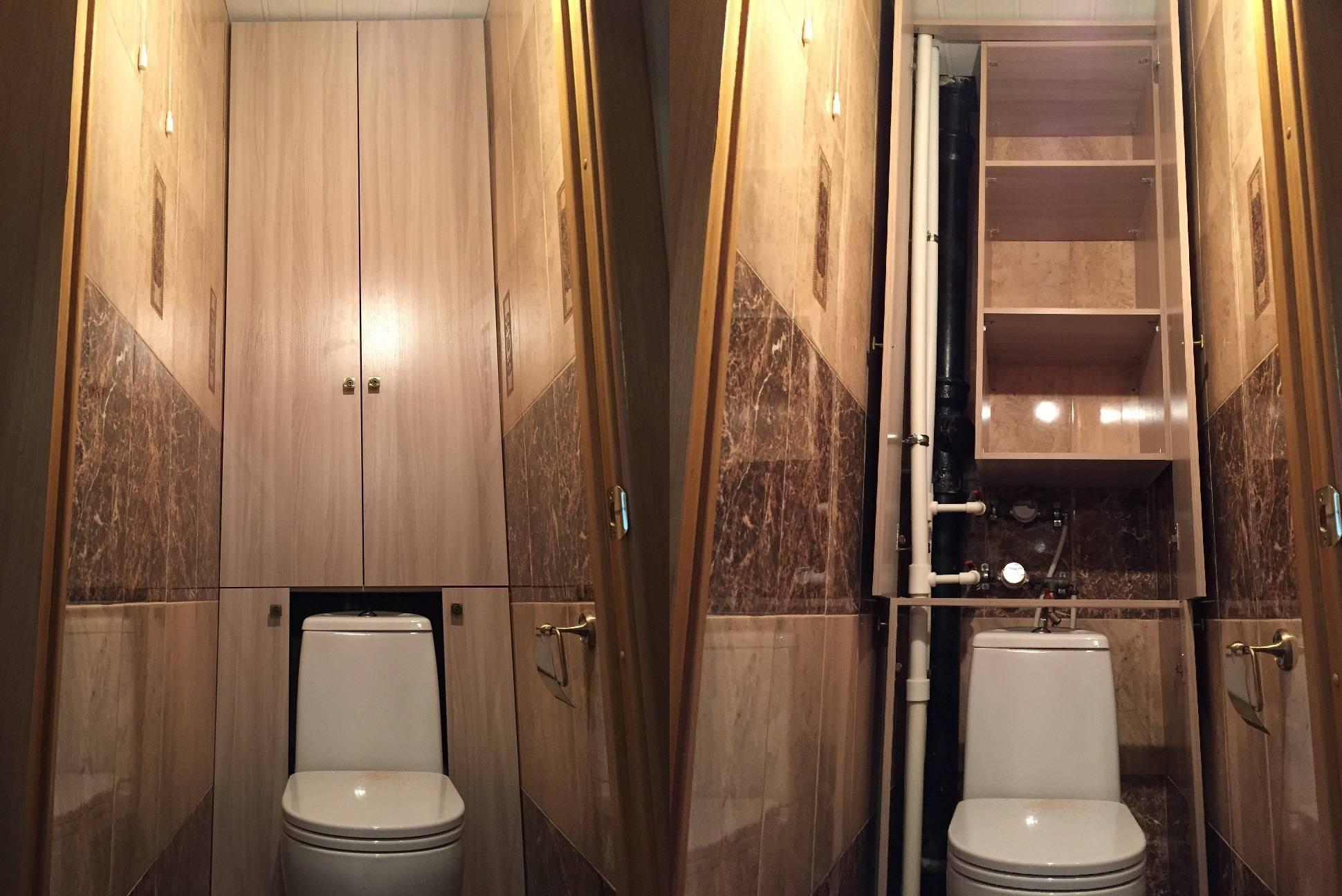 Шкаф в туалет - все о канализации