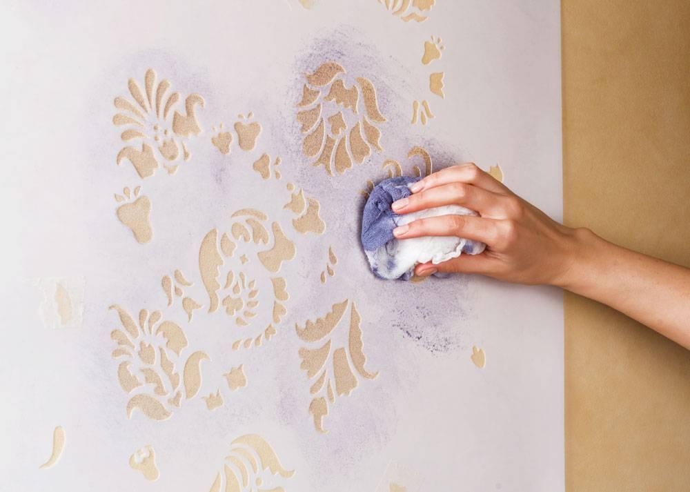 Трафареты для стен под покраску +75 фото